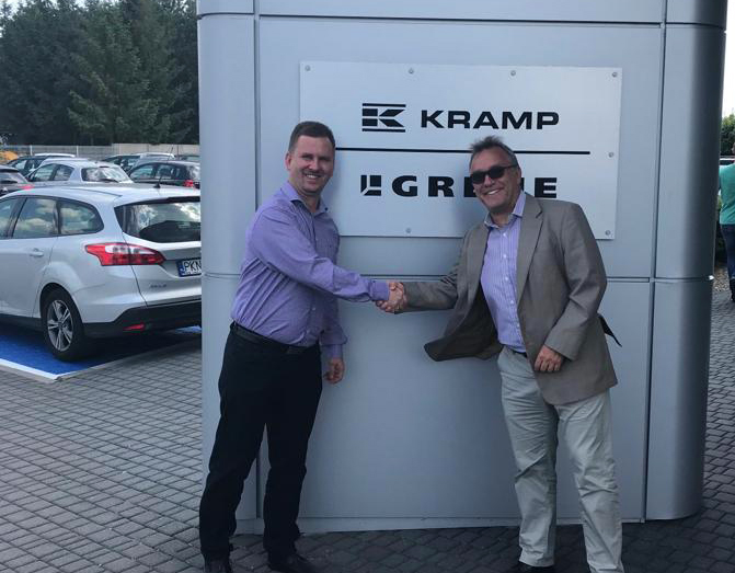 Krystian Szambelan, Product Group Manager at Kramp and Michael Cederkvist, CEO at Soft Touch AB